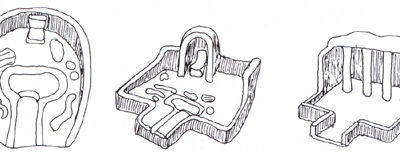 Dos piezas del Reino Medio halladas en el patio de Djehuty