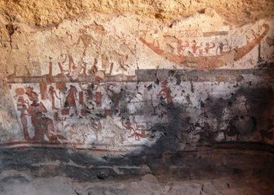 Escenas de telares en la tumba capilla de Ramose
