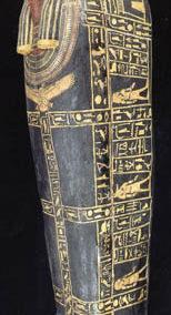 Dos piezas de sarcófago de la dinastía XVIII