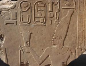 Relieve de Amenhotep I en el museo al aire libre de Karnak