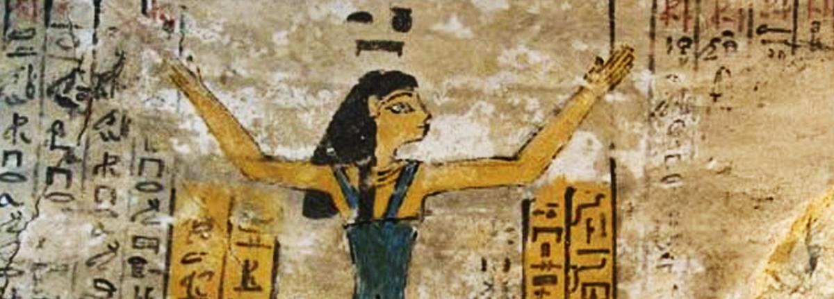La diosa Nut en la cámara sepulcral de Djehuty