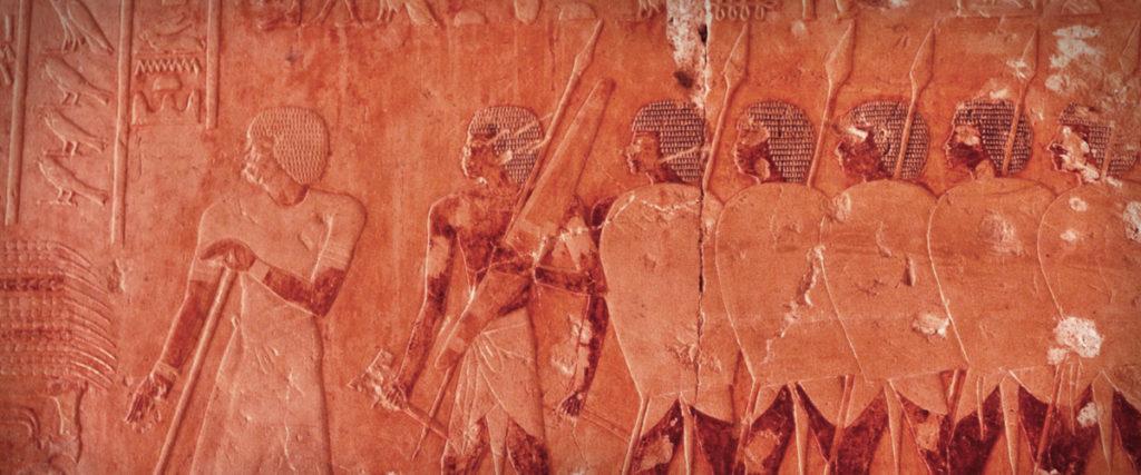 Llegada de la expedición egipcia al país de Punt. Templo de Deir el-Bahari