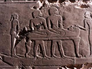 La procesión funeraria en la tumba de Hery