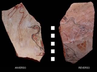 Ostraca dibujados de Dra Abu el-Naga (TT 11-12)