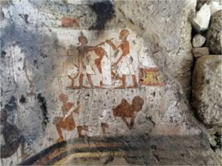 Limpieza y consolidación de las pinturas de la capilla ramésida