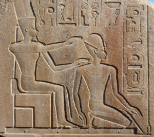Amón coronando al rey de Egipto