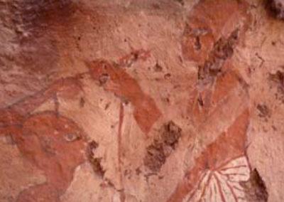 Detalle de una capilla pintada en época de Ramsés II