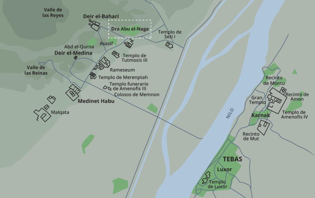 Mapa de Tebas