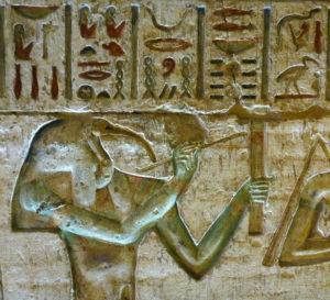 Tot, el escriba de los dioses, representado con cabeza de ibis.