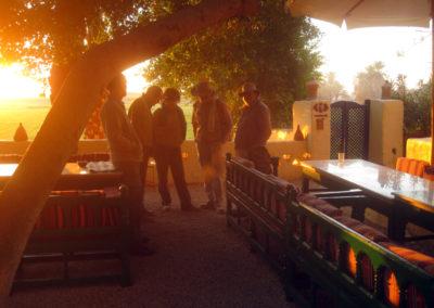 El patio del Marsam es el lugar perfecto para disfrutar del amanecer.