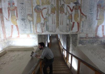 En la tumba de Ramsés III.