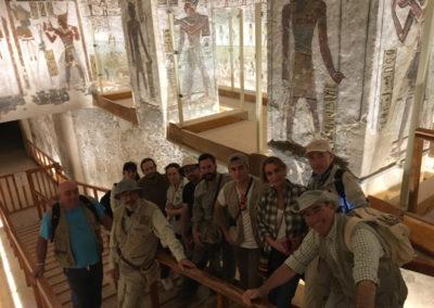 Grupo de visita en la tumba de Ramsés VI.