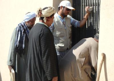 Apertura de la nueva cancela de la tumba de Djehuty.