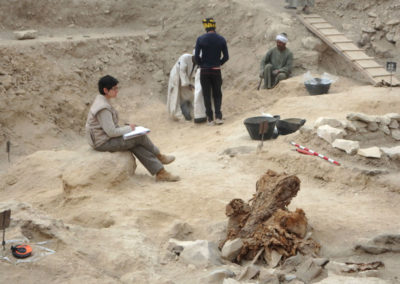 Excavación en la zona de Angie.