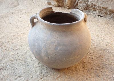 Cerámica de época ptolemaica tardía o romana reciente hallada en la excavación que supervisa Cisco.