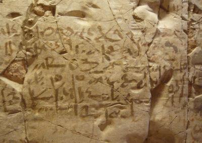 Graffiti demótico en la tumba de Djehuty.
