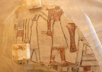 Calco de una inscripción que dibuja Pía.