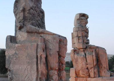 Colosos de Memnon al atardecer.
