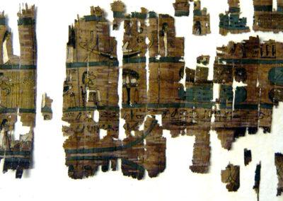 """Viñeta de los """"campos de Iaru"""" del papiro de Tanedjem."""