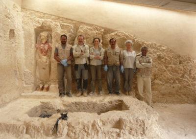 Equipo de restauración hispano-egipcio.
