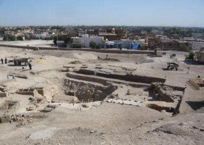 Vista de la excavación desde arriba del yacimiento.
