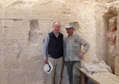 El sobrino nieto de Wilhelm Spiegelberg, Richard, nos ha visitado hoy para conocer dónde dio sus primeros pasos como egiptólogo su antepasado.