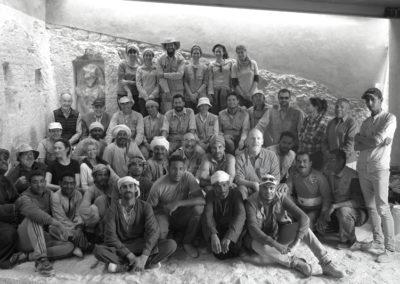 Foto de grupo al final de la jornada, con Richard Spiegelberg y su amigo Aziz Radwan.