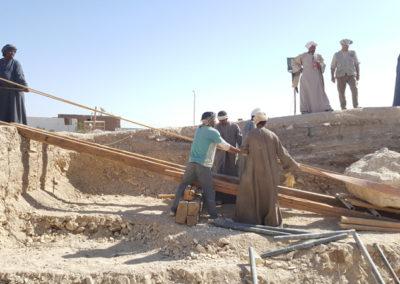 Al final de la jornada, el rais Alí y sus trabajadores hicieron una demostración de la herencia faraónica en sus métodos.