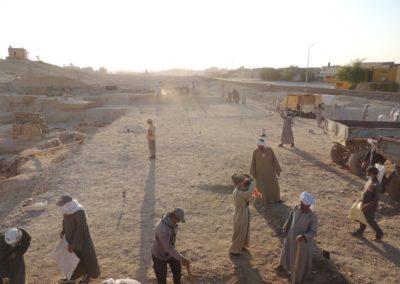 La zona de excavación de este año casi a nivel.